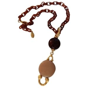 🇨🇦 Vintage tortoise shell necklace made in Italy
